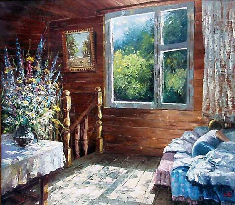 Е.Синев. «Летнее утро на даче»