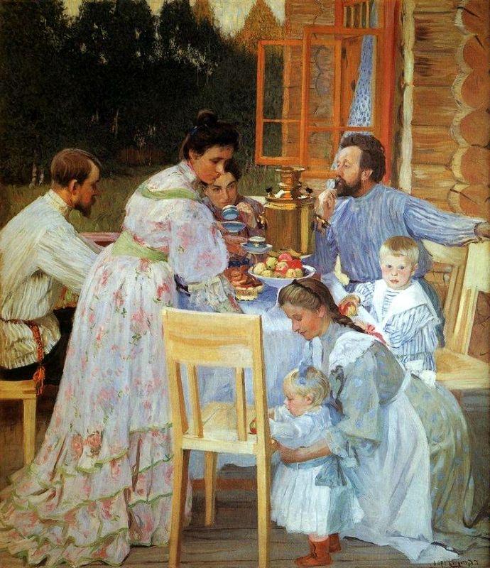 Б. Кустодиев. «На террасе»